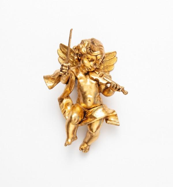 Engel mit Geige (366) Blattgold Höhe 22 cm
