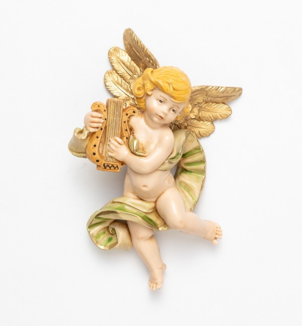 Engel mit Lyra (568) Porzellanimitation Höhe 17 cm