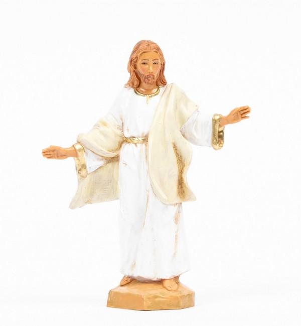Auferstandener Christus (584) weißes Gewand Höhe 12 cm