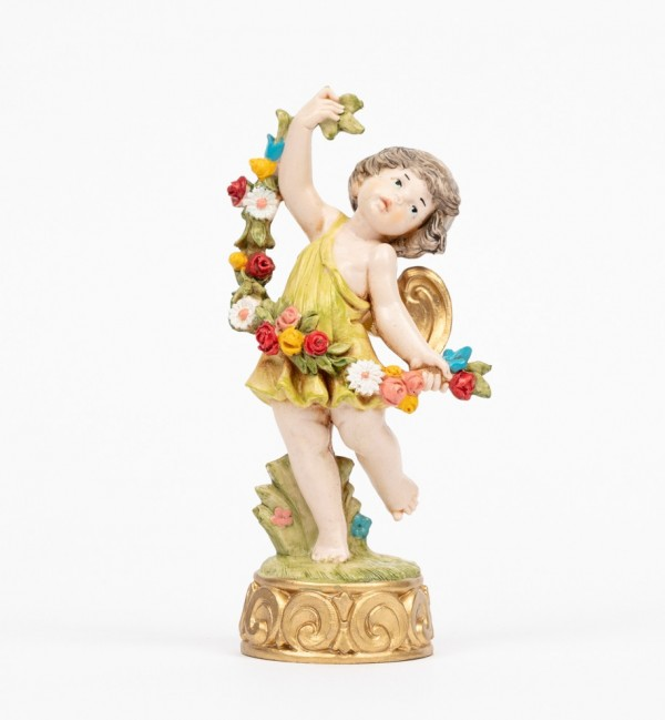 Engel für Frühling (851) Porzellanimitation Höhe 12 cm