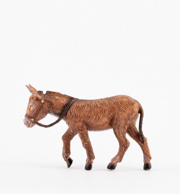 Braun Esel stehen für Krippe Höhe 12 cm