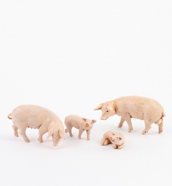 Schweinchenfamilie für Krippe Höhe 12 cm