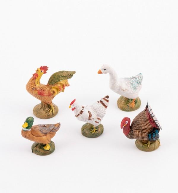 Hühner und andere Tiere - Geflügel für Krippe Höhe 11 cm und 12 cm