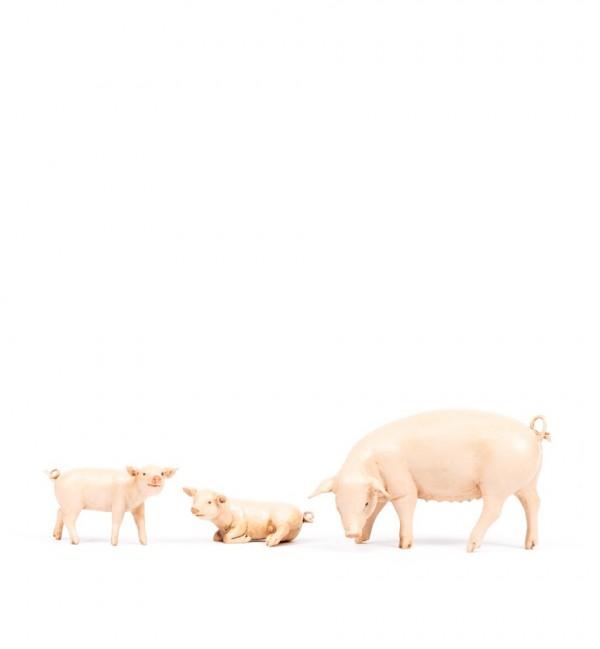 Schweinchenfamilie für Krippe Höhe 19 cm
