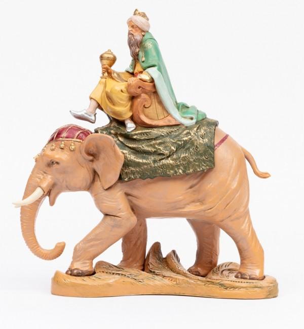 König auf Elefant für Krippe Höhe 19 cm