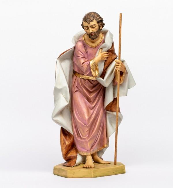 Heilige Josef aus Harz für Krippe Höhe 65 cm