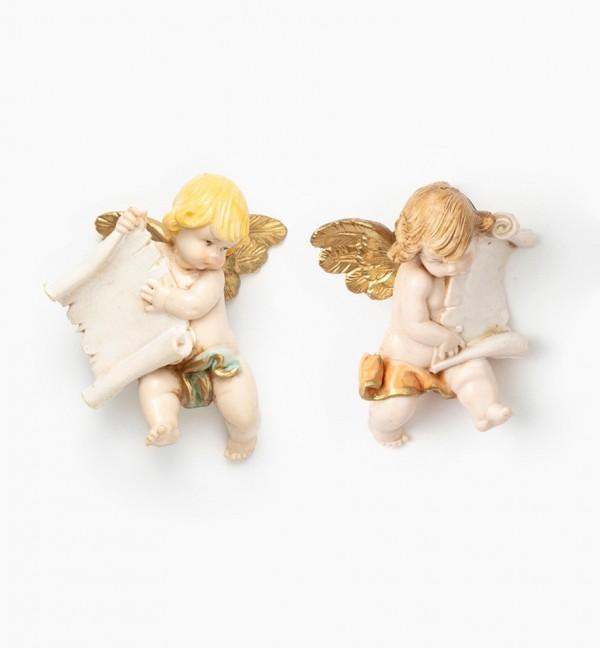 Engel mit Pergamin (396-7) Porzellanimitation Höhe 7 cm