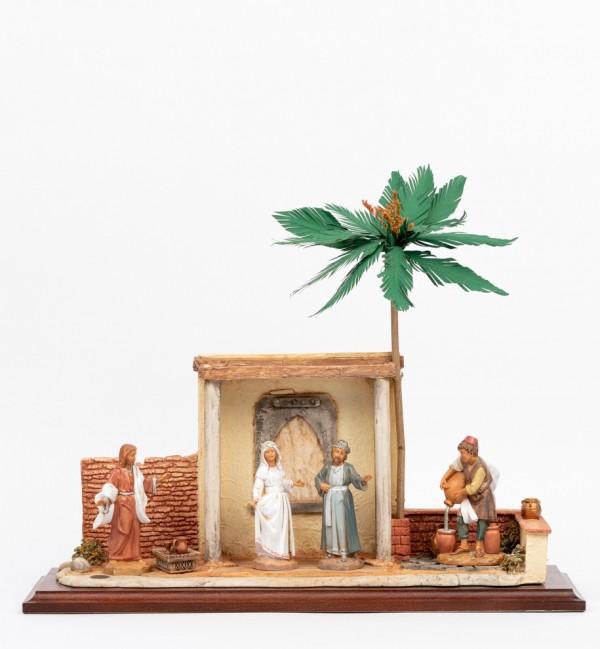 Szene Hochzeit zu Kana mit Gestalten Höhe 12 cm